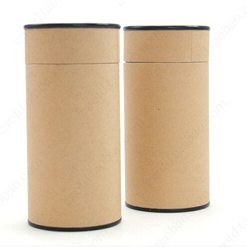 Natural Plain Round Brown Kraft Paper Tube Box Paper Box - Buy Small