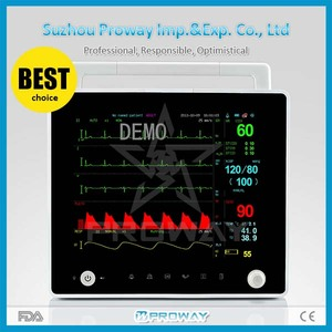 Proway New Design 12 Inch CE Approved Portable TFT Display Patient Monitor with ECG,SpO2,Temperature,Respiration