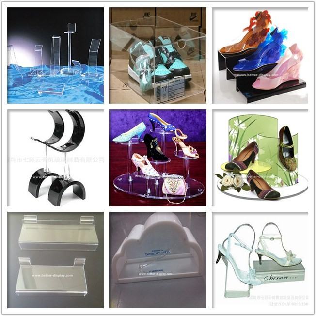 wholesale clear plastic acrylic shoe display box