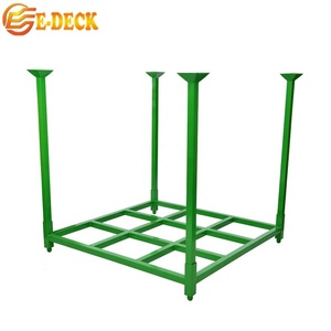 Heavy duty demountable folded metal detachable warehouse euro style pallet tire rack for storage with forklift hot sale