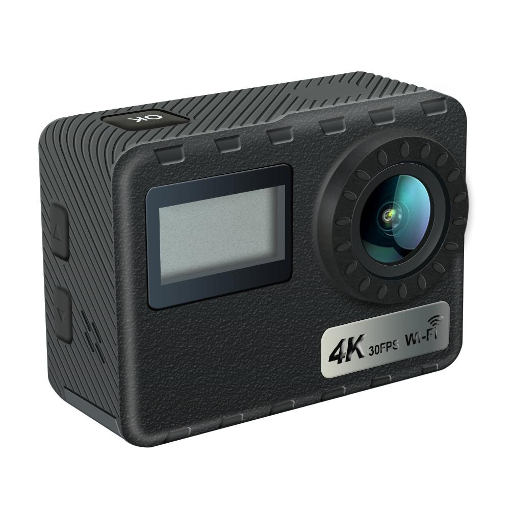 울트라 4K HD 듀얼 스크린 방수 30M 카메라 원격 제어 및 터치 기능
