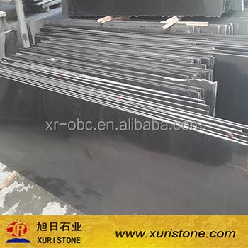 China Cheap Absolute Black Granite Mongolia Black Granite Floor