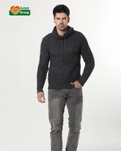 chunky knit sweater for men wool knit pullover