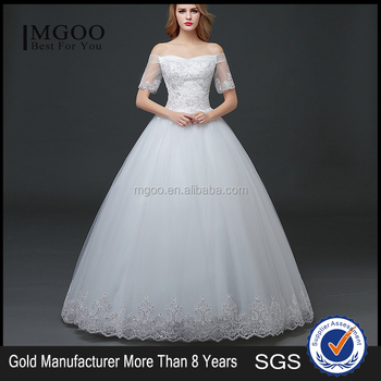 Mgoo Elegant Custom Made White Crystal Wedding Dress Ball Gown Beach Bridal Dress Frock Style Tulle Designs Saree Buy White Wedding Dress Frock
