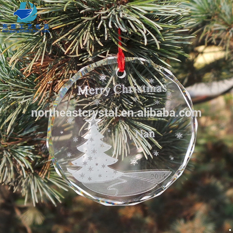 Shinny Clear Crystal Glass Christmas Tree Ornament Factory Wholesale