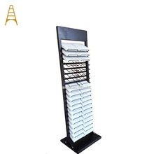 Aangepaste Quartz Metalen Graniet Steen Tegel Display Rack