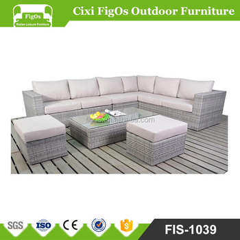 Awesome Houston Grey Mixed Outdoor Patio Furniture Set Sectional Sofa 5 Pieces All Weather Pe Wicker Rattan Deep Seating Corner Sofa Buy Cheap Outdoor Bralicious Painted Fabric Chair Ideas Braliciousco