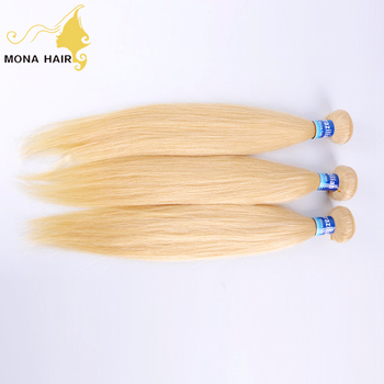 Blonde Human Hair Piece Cuticle Aligned Brazilian 613 Hair Bundle