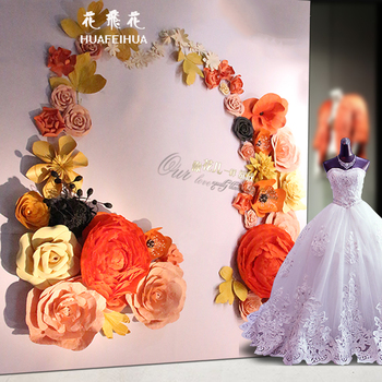 China Supplier New Products High Quality Artifical Paper Flower Giant Paper Flower Wall Wedding Flower Decoration Buy China Supplier New Paper
