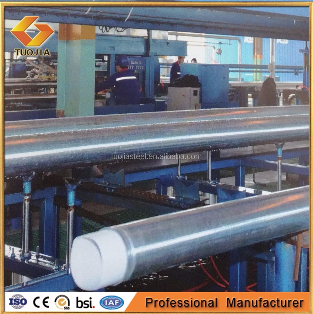 China Manufacturer Water Supply Zinc Coating Steel-plastic compound steel pipe price per meter