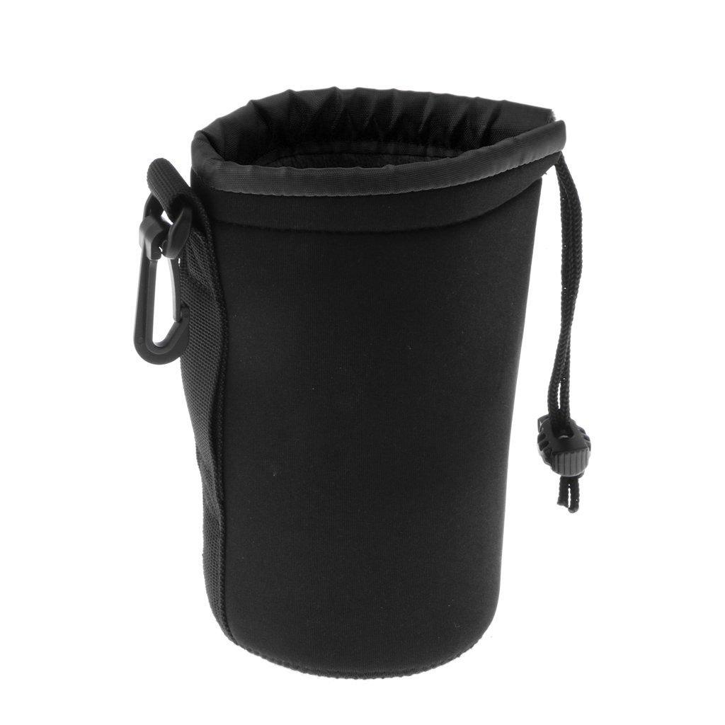 MagiDeal Neoprene Travel DSLR Camera Lens Filter Pouch Protector Shoulder Bag Case L