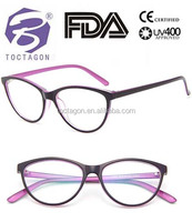 2017 Fashion new designer plastic cat eye optical glasses frame in china , Plastic stock eyeglasses frame
