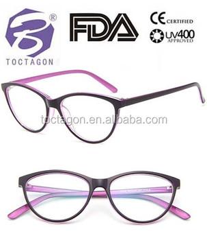 fb5946c3a6 2017 Fashion new designer plastic cat eye optical glasses frame in china