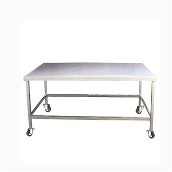 Heavy Duty Restaurant Used Kitchen Stainless Steel Working Table With Wheels