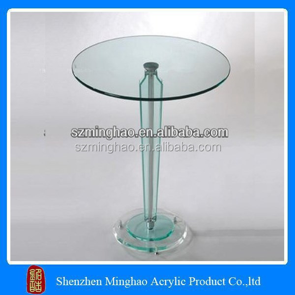 Modern round acrylic cake shape small table