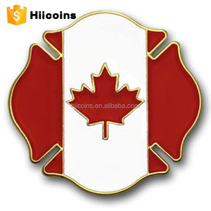 wholesales maple leaf red maple Canada flag metal lapel pins custom metal lapel pin