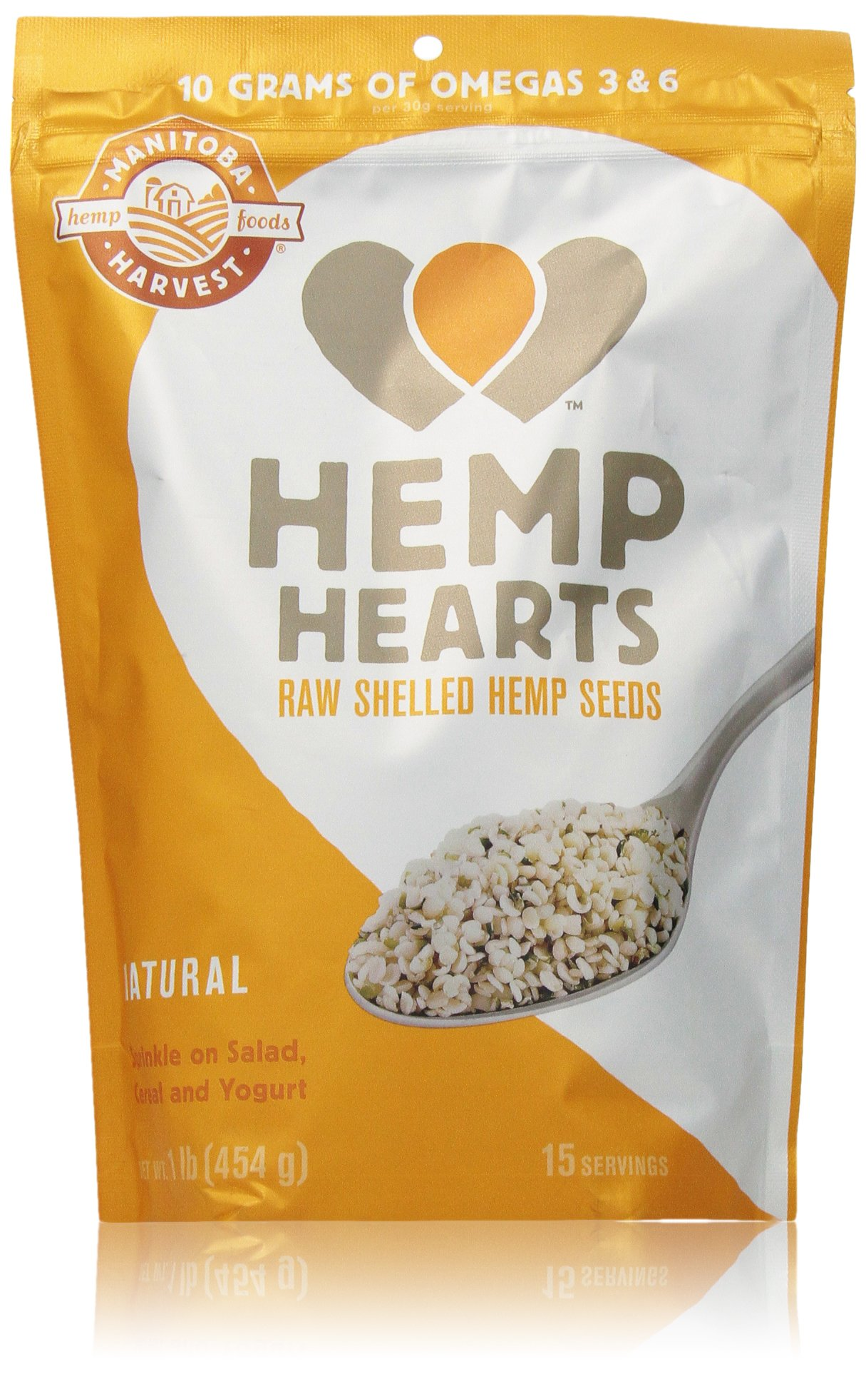 Manitoba Harvest Hemp Hearts Raw Shelled Hemp Seeds, 1lb; with 10g of Protein & Omegas per Serving