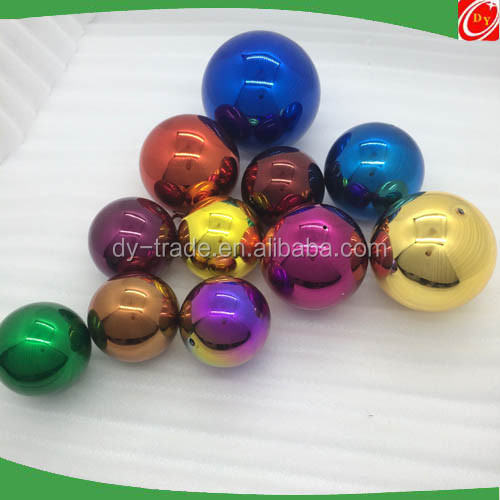 42mm 63mm 76mm 80mm Decorative Color Gazing Stainless Steel Hollow Ball