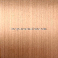 hot sale Ti colored hairline 430 stainless steel sheet for elevator cabin