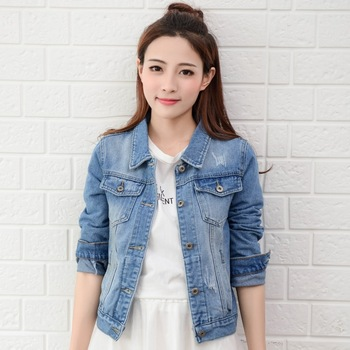 df4f999ede86a 2018 Fashion Long Sleeve White Jeans Denim Jacket Women - Buy ...