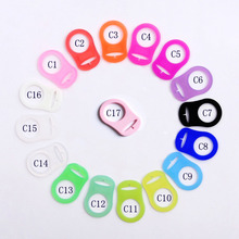 100 pcs Batal Silicone Pacifier Clip Adapter Silicone MAM Adapter Rings 16 warna