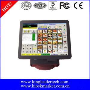 "Restaurant 15"" Fashionable Touch Screen POS Terminal Machine Monitor"