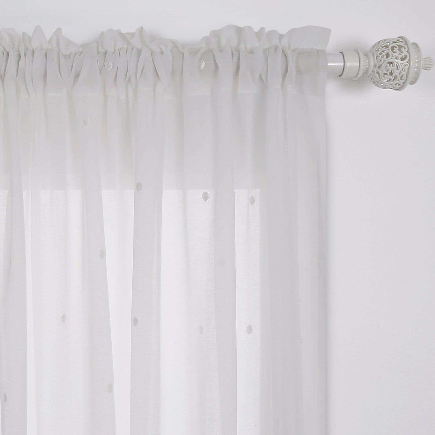 grommet deconovo room cotton grey dot india sheer panels embroidered kids for product curtain from faux curtains