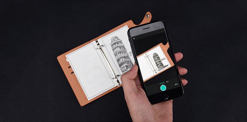 Пользовательские печатных Спираль Кожаный чехол A6 Elfinbook мини дневник тетрадь