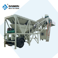 Long service life 35m3/h YHZS35 mobile macon concrete batching plant