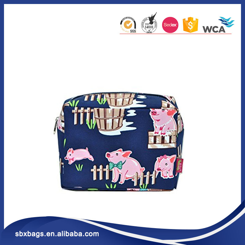 Cute Animal Printed Large Cosmetic Travel Pouch