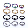 4 Color Stainless Steel BCR CBR Captive Bead Ring Ear Tragus Eyebrow Jewelry Lip Bar Piercing Ring