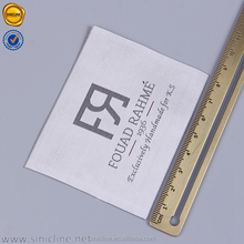 Sinicline new design custom clothing tags satin for wedding dress