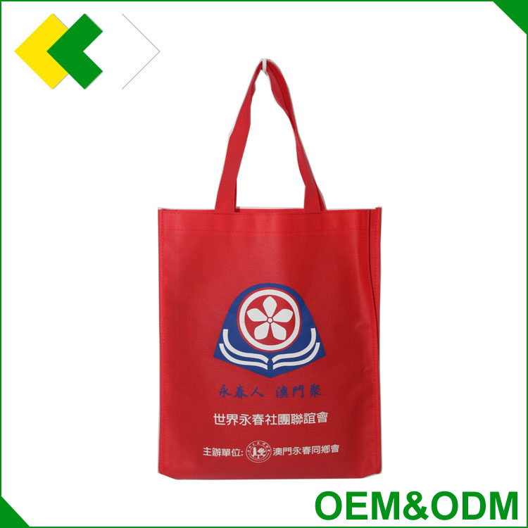2017 factory direct sale customized good quality competitive price non woven bag recyclable promotional logo printed shopping ba