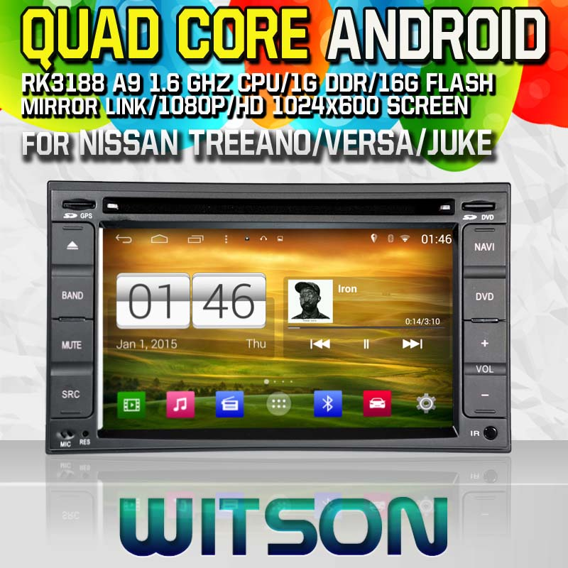 Witson S160 Android 4.4 Car DVD GPS For NISSAN TREEANO VERSA JUKE with Quad Core Rockchip 3188 1080P 16g ROM WiFi 3G