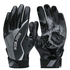 Custom Made Design Printed Good Quality Anti-skip Football Receiver Keeper Glove Design Your Own Football Gloves