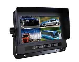 "Car Rearview Systems 7"" Digital Quad Bus Car LCD Monitor With HDMI Input"