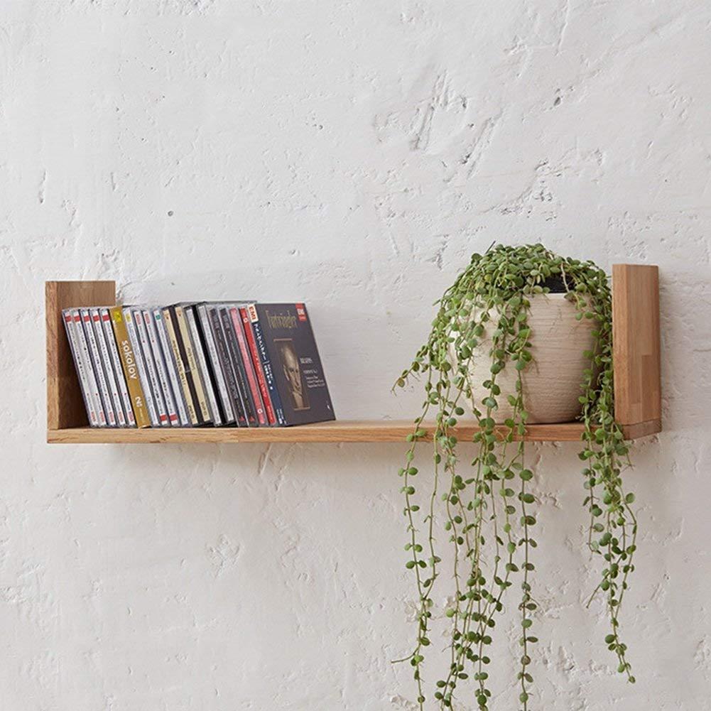 QIANDA Wall Shelves Storage Display Floating Shelf Bookshelf Wall Mounted Wooden Bookrack Flower Shelf Wall Shelves Floating Shelves, 60 X 15 X 16.5cm