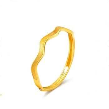 f0eac96cf Simple Wave Design Daily Wear Gold Rings For Ladies - Buy 1 Gram ...