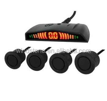 Car 12V ABS LED Reversing Radar sensor parking sensor with bibi sound or human voice