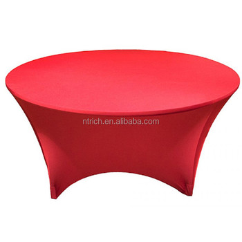 Hot Seller Round Stretch Table Cloth Use For Banquet Spandex Table