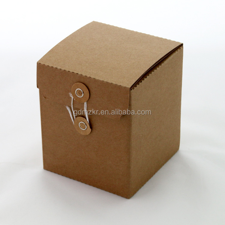 High quality factory recycled brown kraft paper gift boxes folding