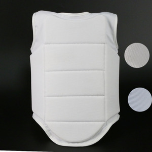 White color sports WKF karate chest guard protector wholesale