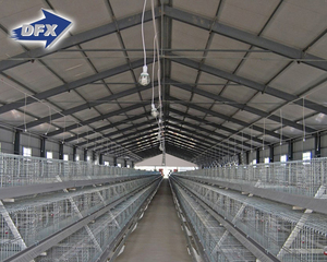 China best supplier steel frame layer egg chicken cage/poultry farm construction house design for sale in kenya