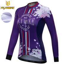 YKYWBIKE VTT Manches Longues <span class=keywords><strong>Maillot</strong></span> de Cyclisme Femmes <span class=keywords><strong>Hiver</strong></span> Polaire Thermique Vélo <span class=keywords><strong>Vêtements</strong></span> Cyclisme Chemises Ropa Ciclismo Mujer