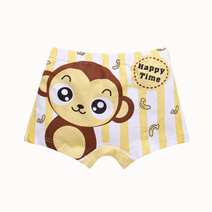 Soft breathable fiber underwear children modeling panties