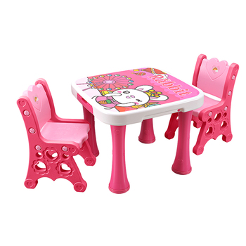 Pink Children Desk Cuit Plastic Children Table Drawing Table Play Table