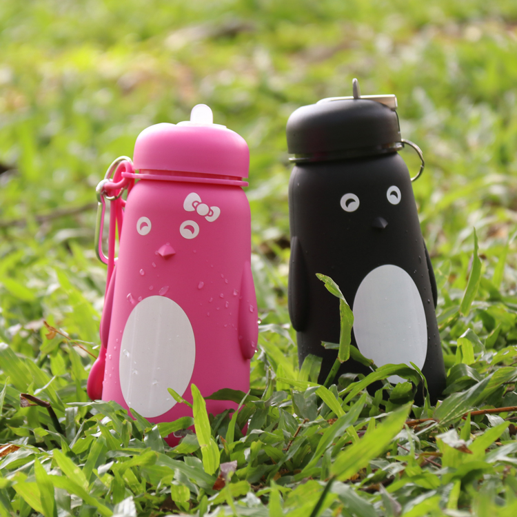 Private Label Silicone Cycling Cute Water Bottle Bpa Free