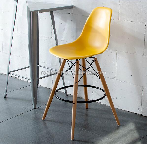 Abs Seat Wood Metal Leg High Chair Bar Stool Buy Bar