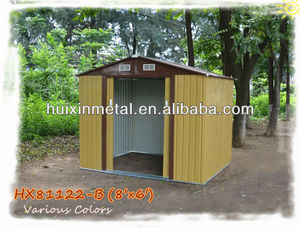 Wooden imitation color steel sheds used in farm HX81122-B