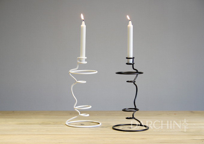 New Design Cube Metal Candle Holder Wrought Iron Candle